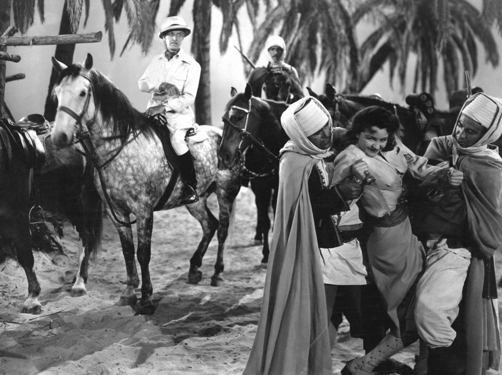 Nancy Kelly in Tarzan's Desert Mystery With Otto Kruger (L)