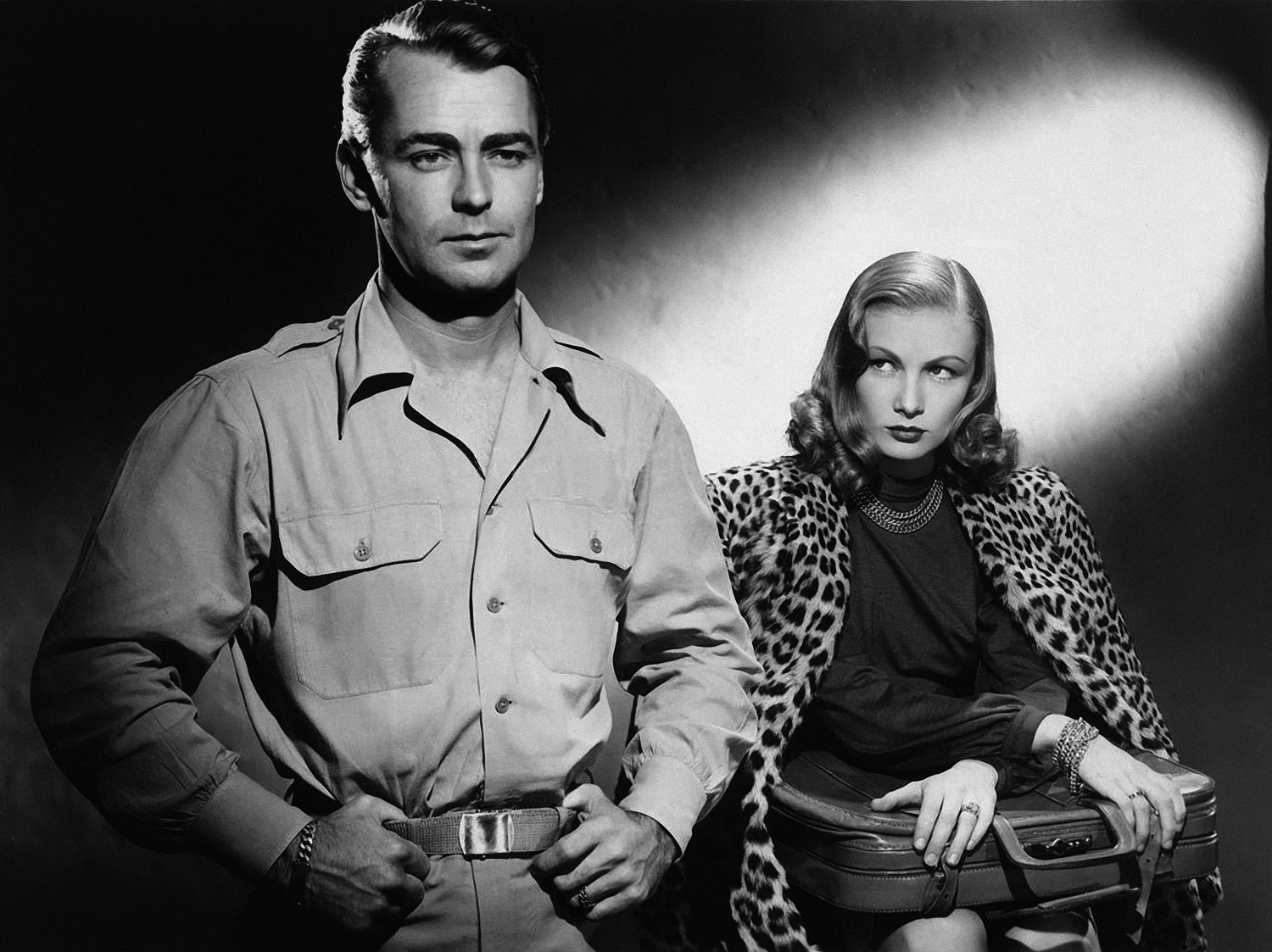 Alan Ladd in Saigon With Veronica Lake