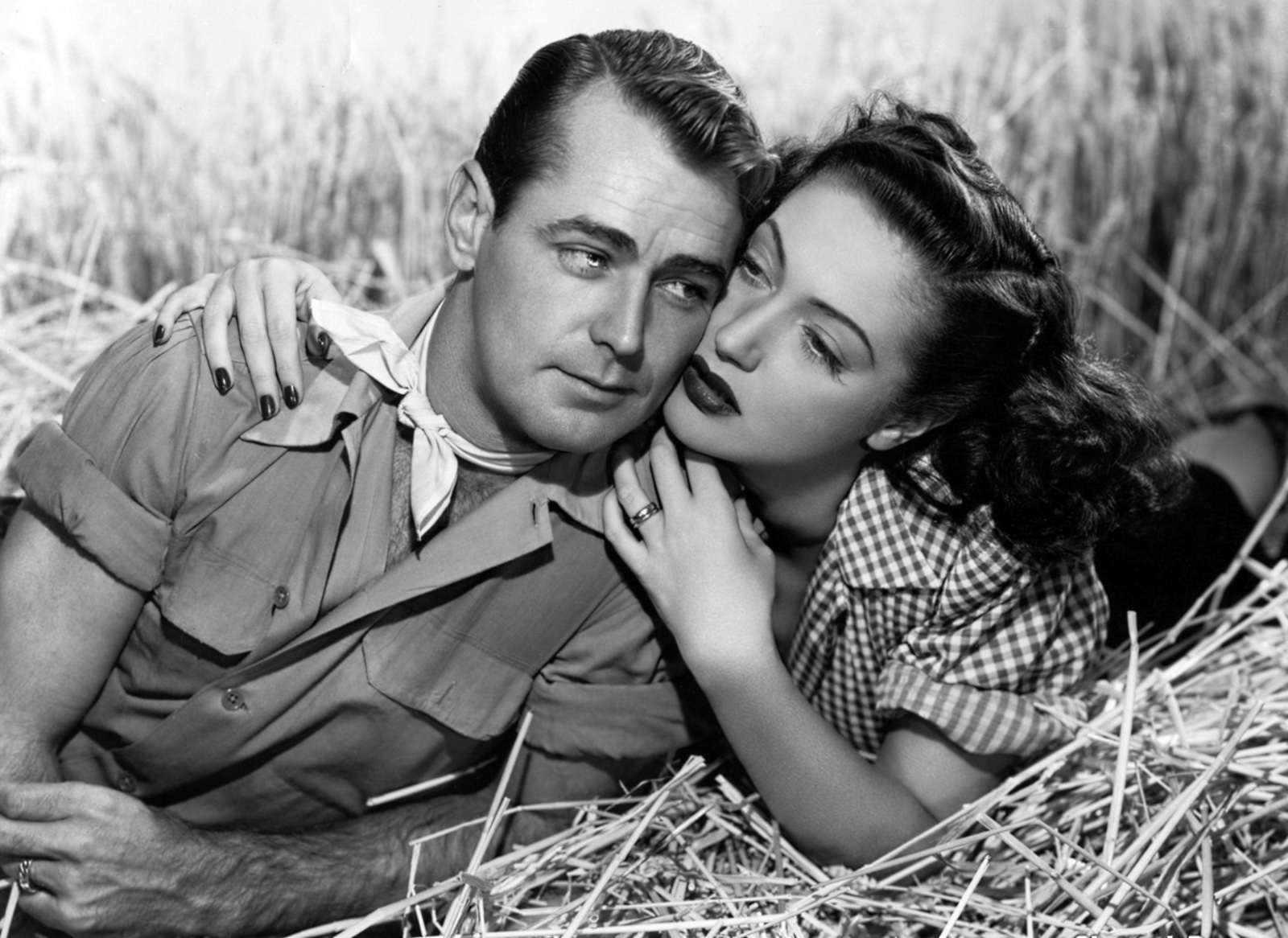Alan Ladd in Wild Harvest With Dorothy Lamour