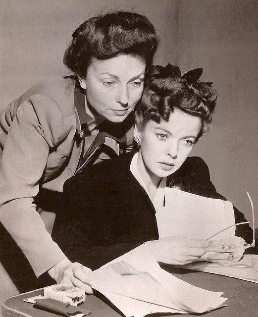 Ida Lupino & Agnes Moorehead as