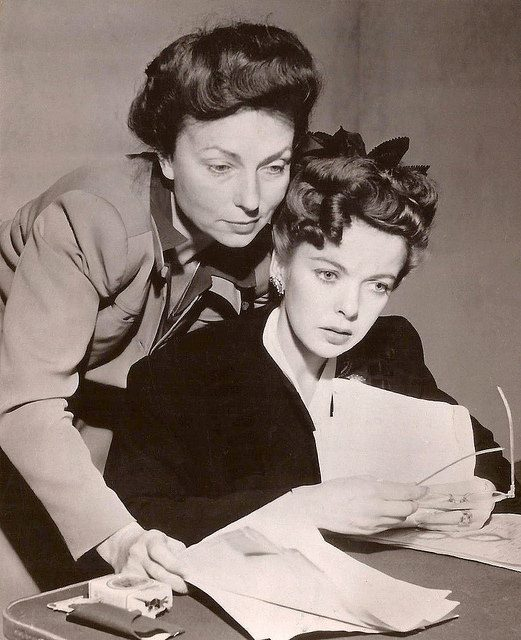 Ida Lupino & Agnes Moorehead as
