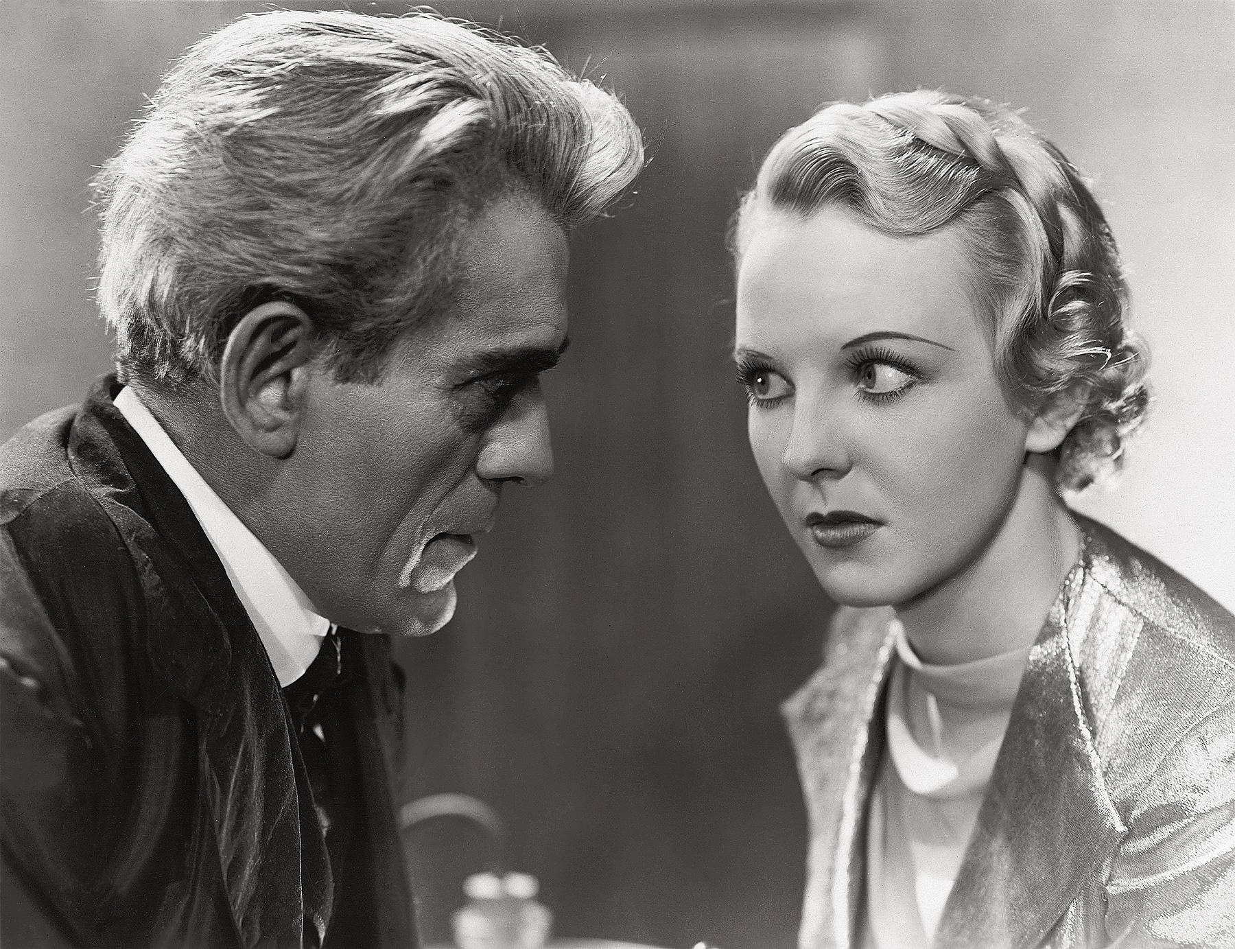 Anna Lee with Boris Karloff.