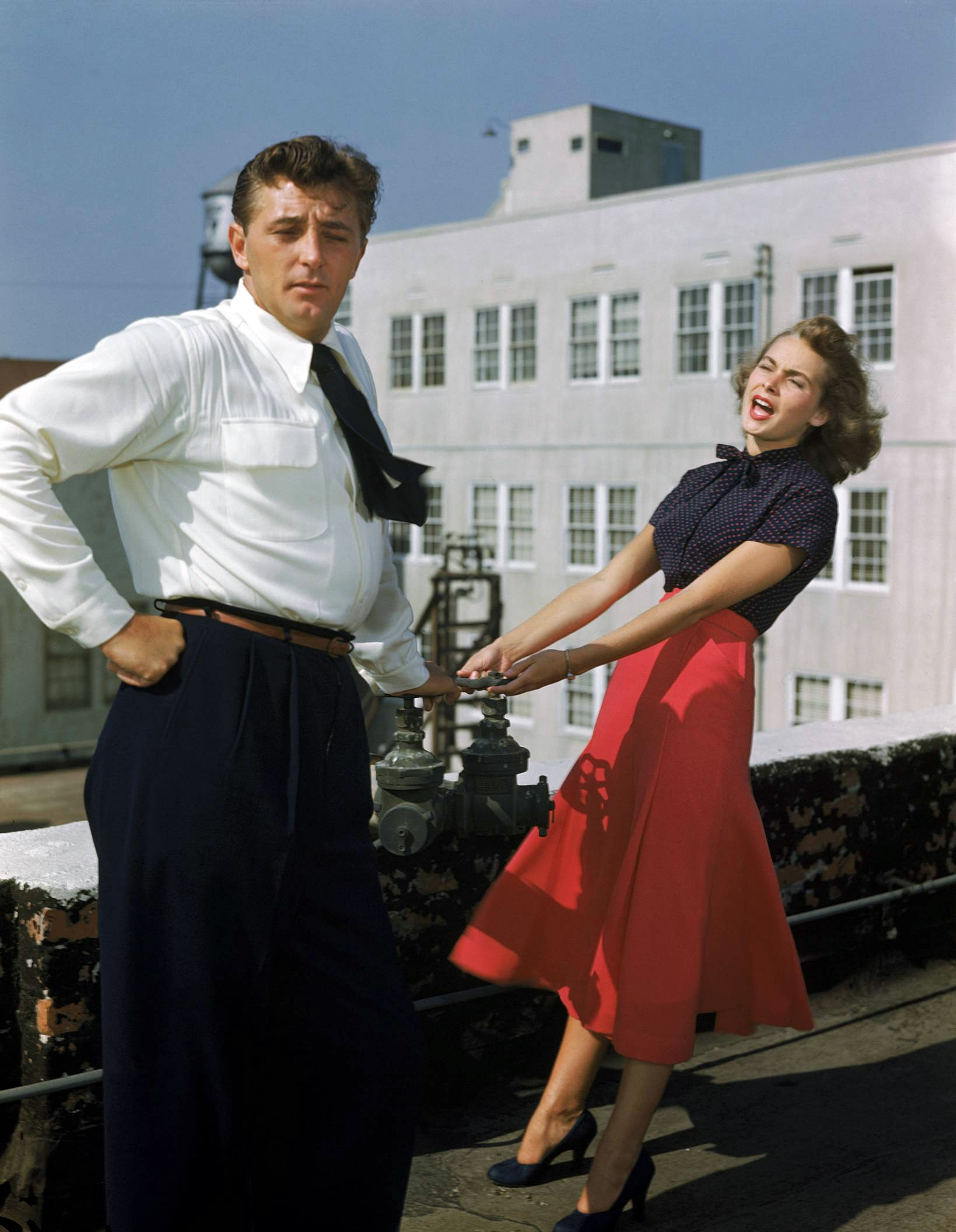 Janet Leigh With Robert Mitchum