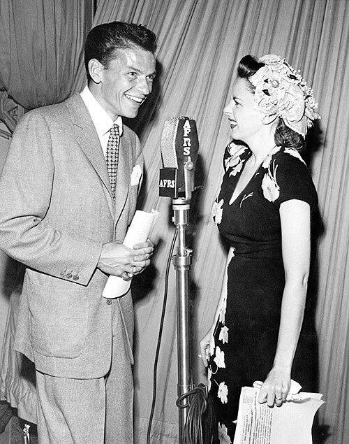 Frank Sinatra & Judy Garland perform for Armed Forces Radio Services (AFRS) during World War II.
