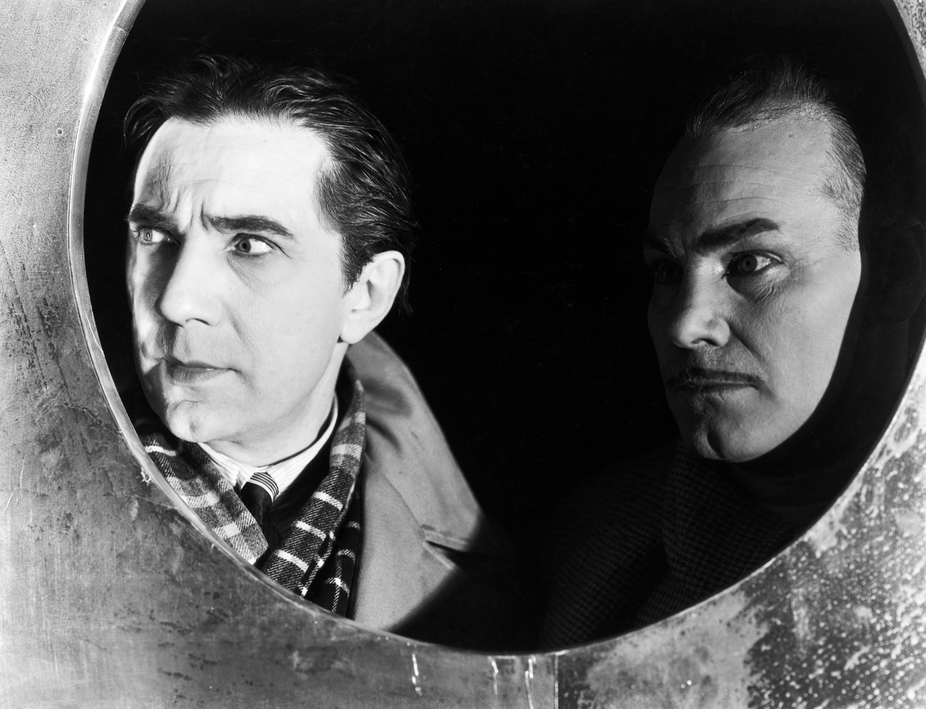 Bela Lugosi With Harry Cording (R)