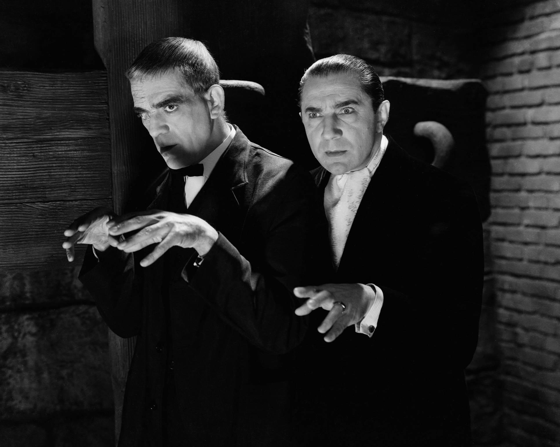 Bela Lugosi With Boris Karloff (L)
