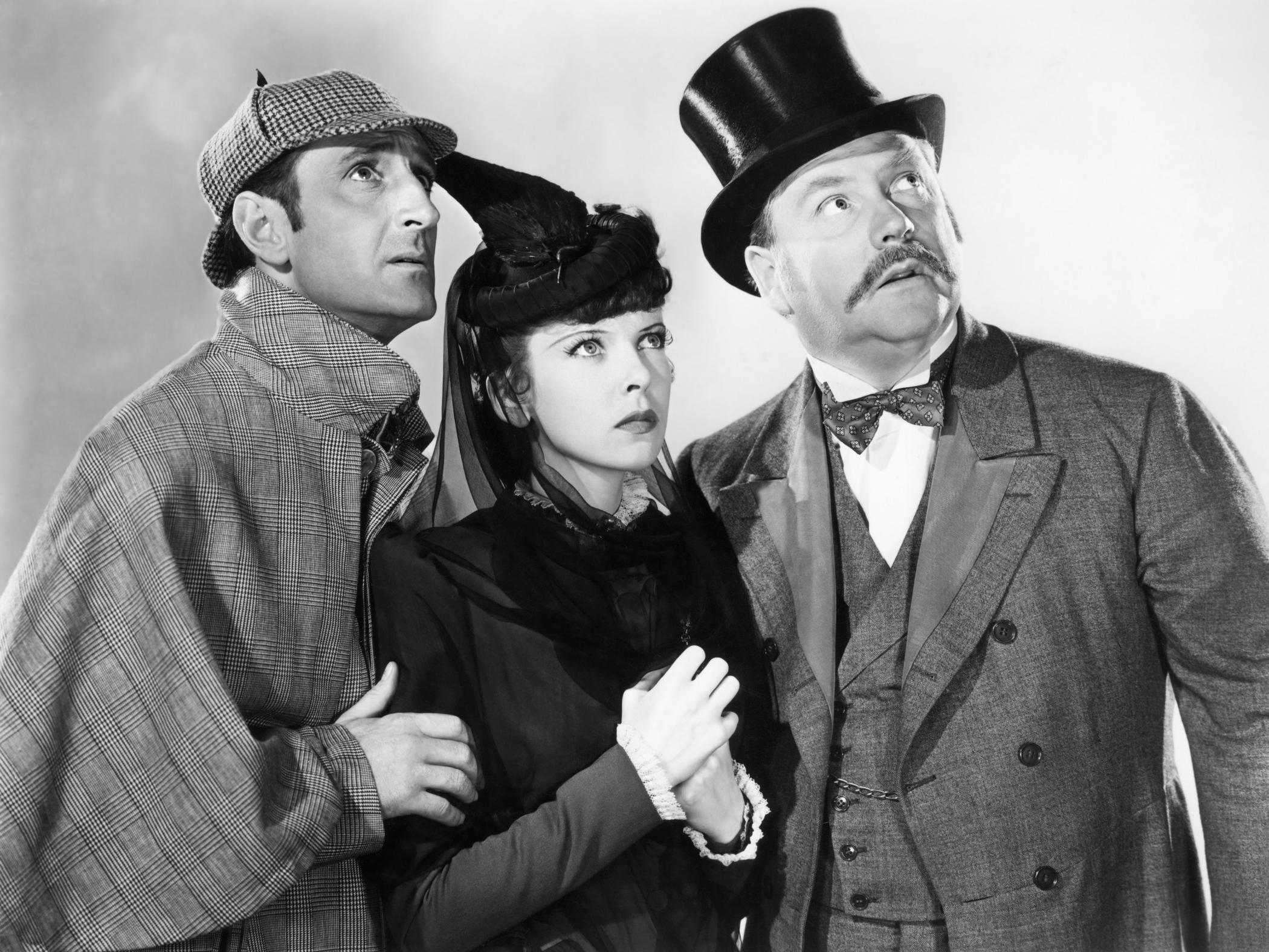 (L to R) Basil Rathbone, Ida Lupino, Nigel Bruce