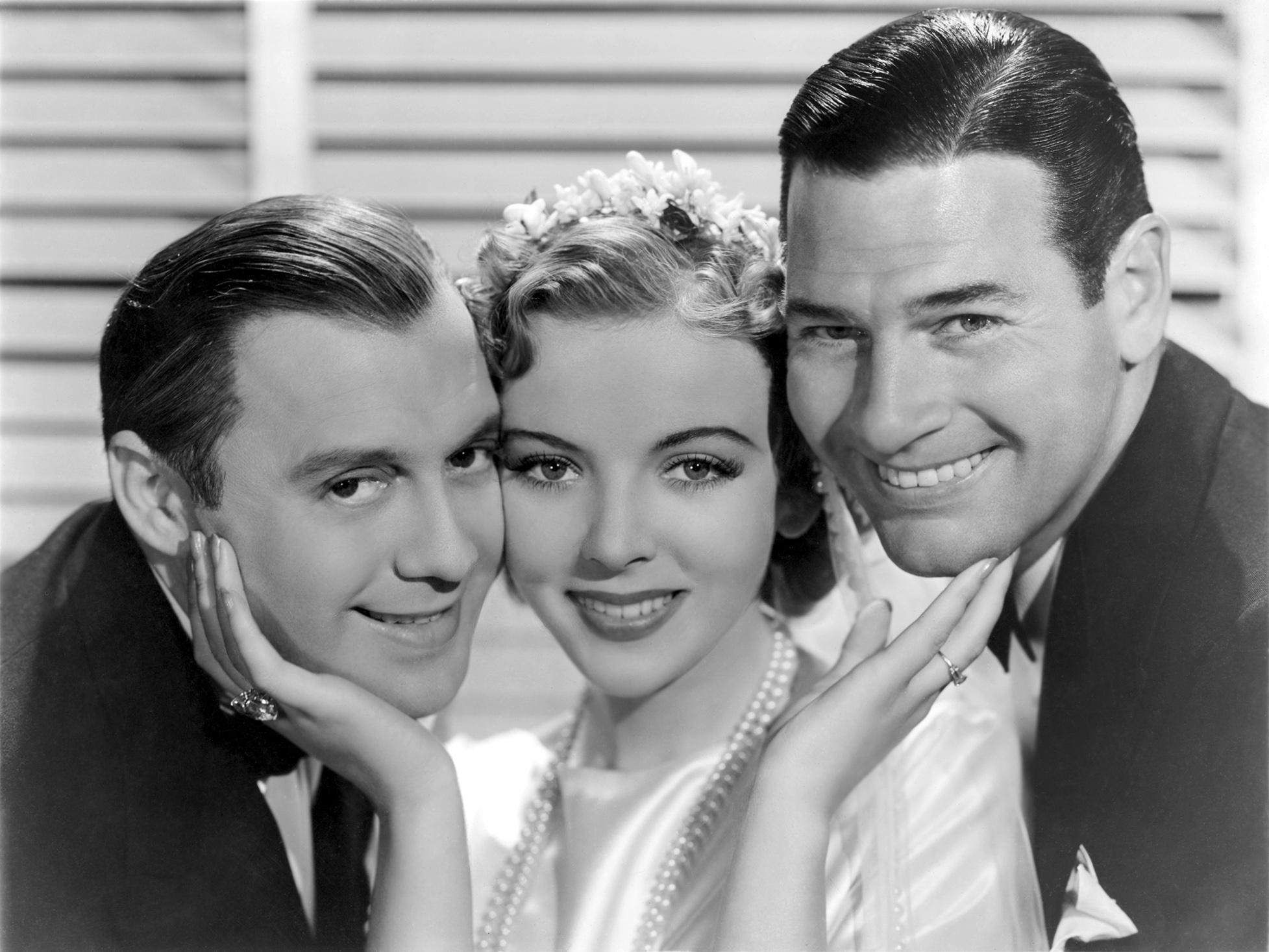(L to R) Jack Benny, Ida Lupino, Richard Arlen
