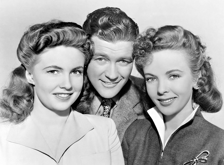 (L to R) Joan Leslie, Dennis Morgan, Ida Lupino