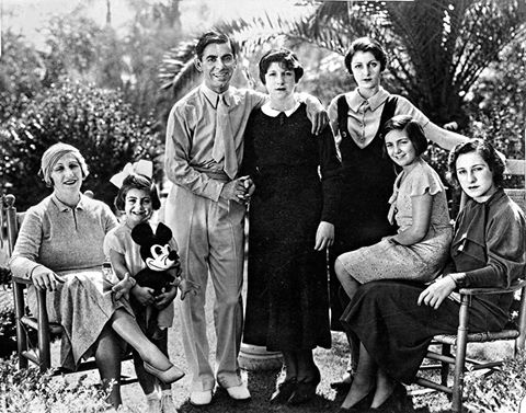 Eddie Cantor, his wife and their five daughters