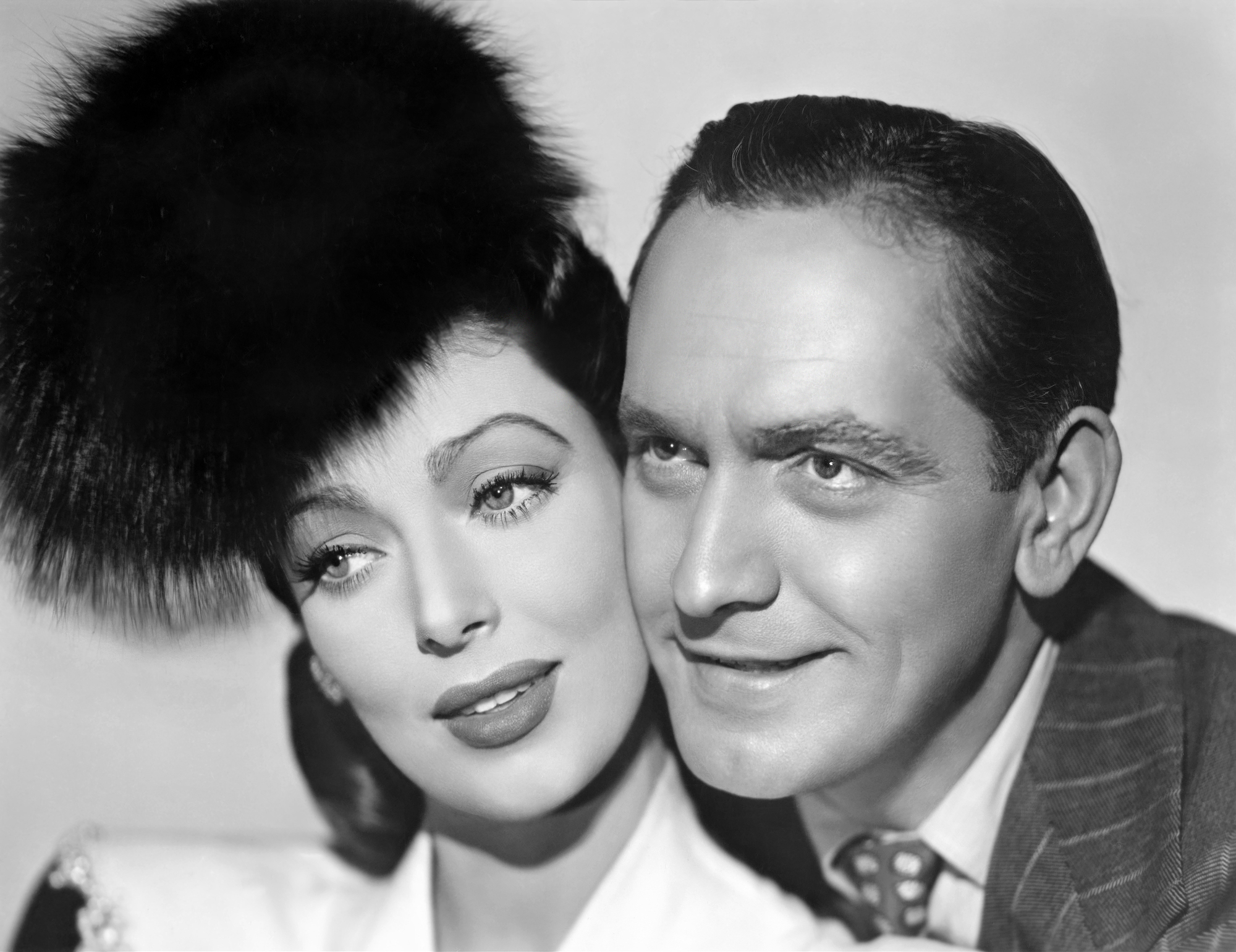 Fredric March With Loretta Young.