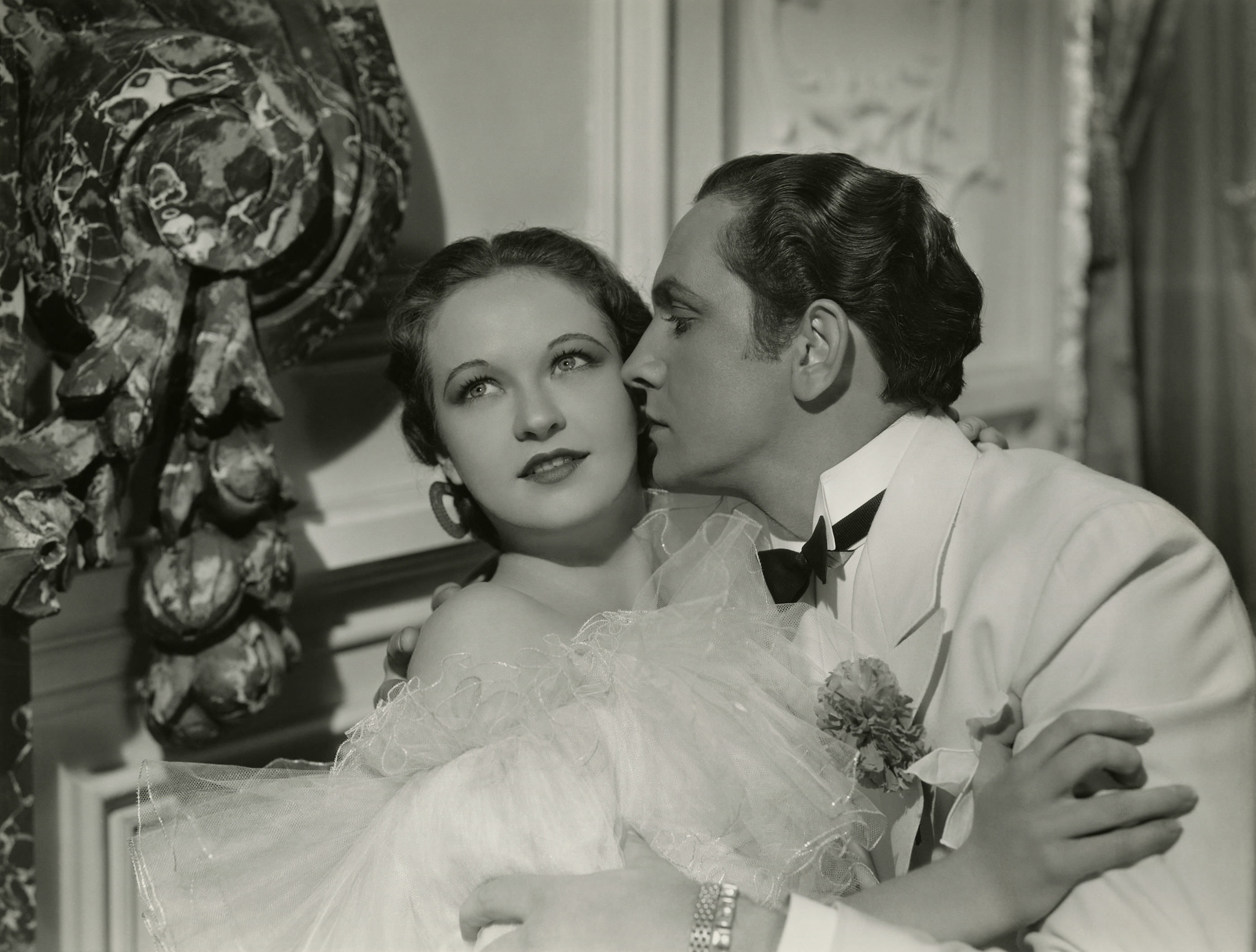 Fredric March With Evelyn Venable.