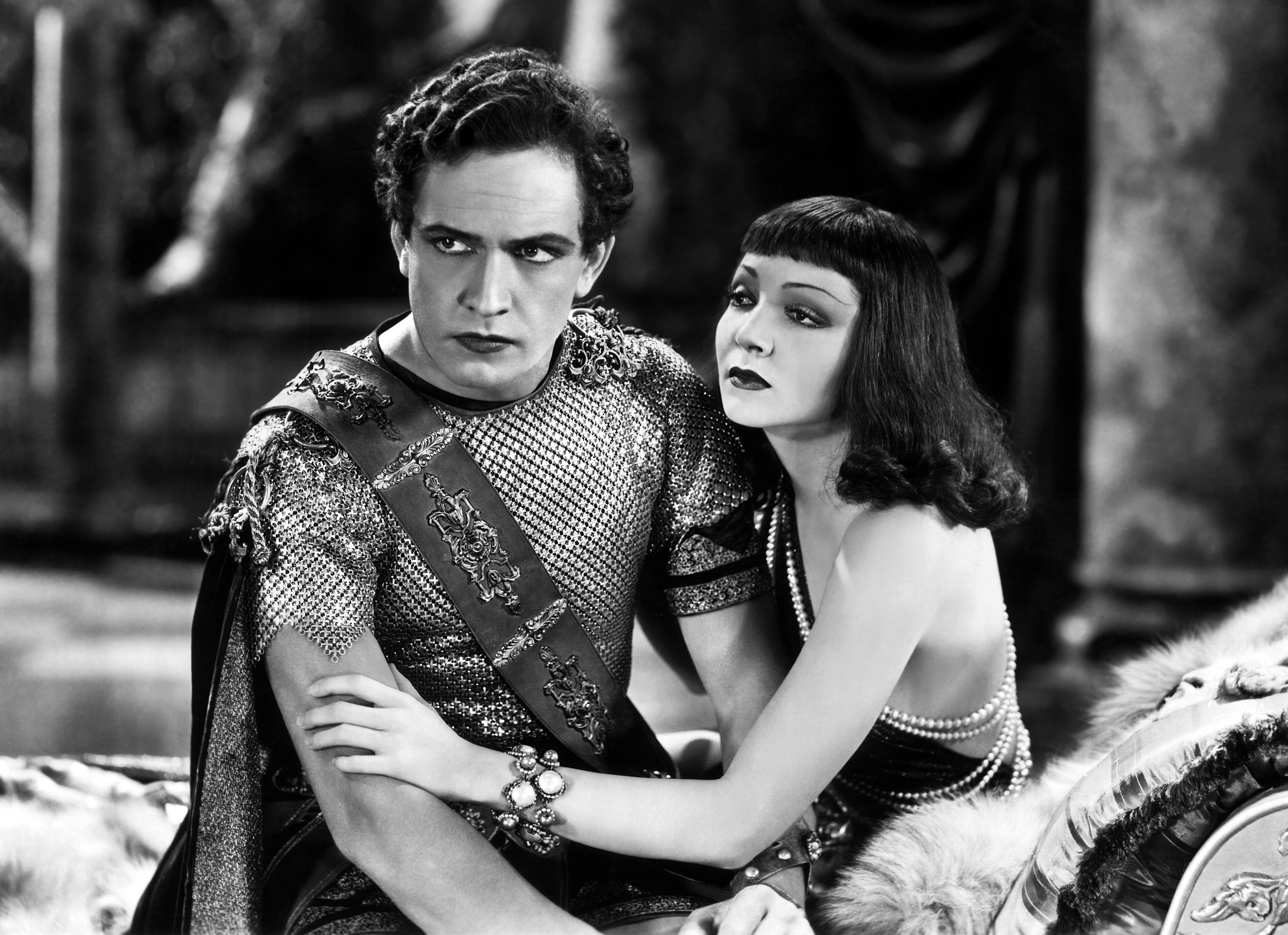 Fredric March With Claudette Colbert.