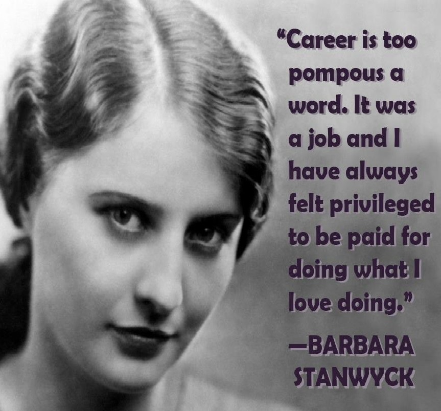 Barbara Stanwyck!
