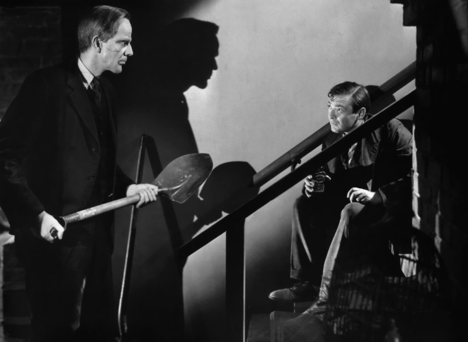 Raymond Massey With Peter Lorre (R)