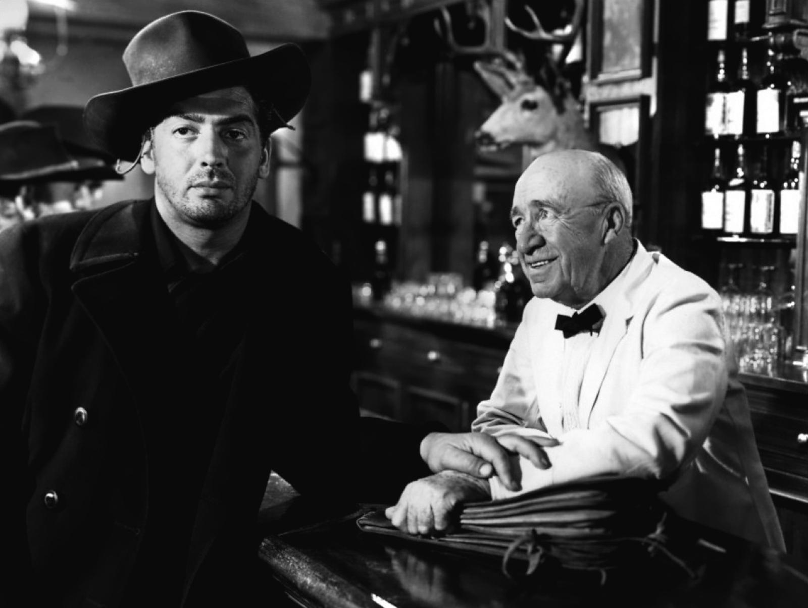 Victor Mature With J. Farrell MacDonald (R)