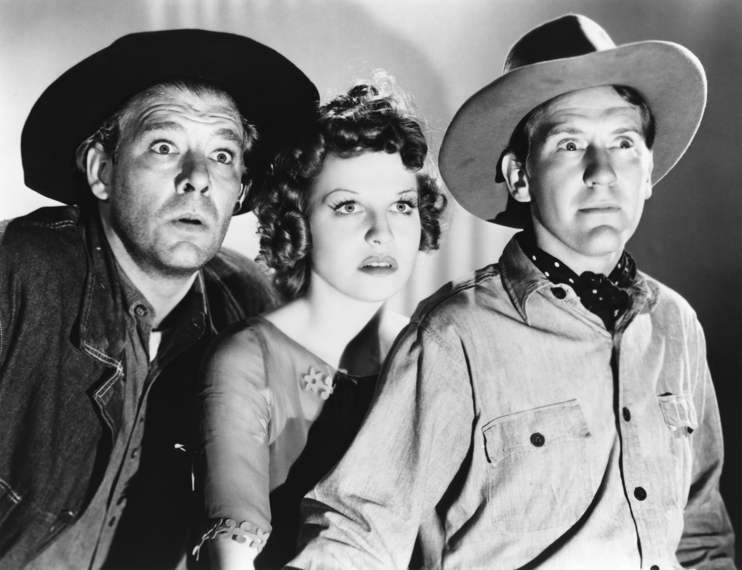 Burgess Meredith in Of Mice and Men (L to R) Lon Chaney, Jr., Betty Field, Burgess Meredith