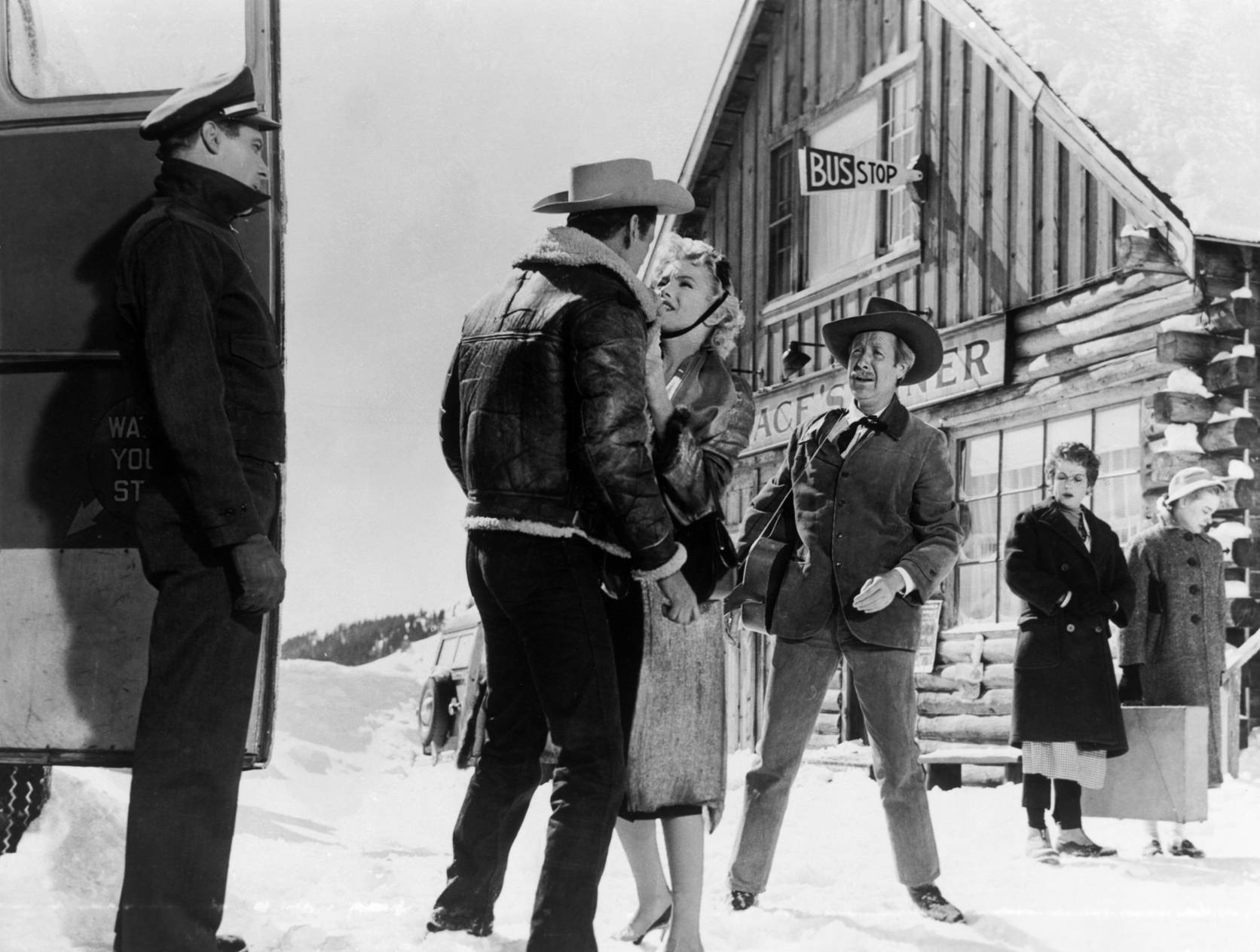 Marilyn Monroe With Don Murray and Arthur O'Connell.