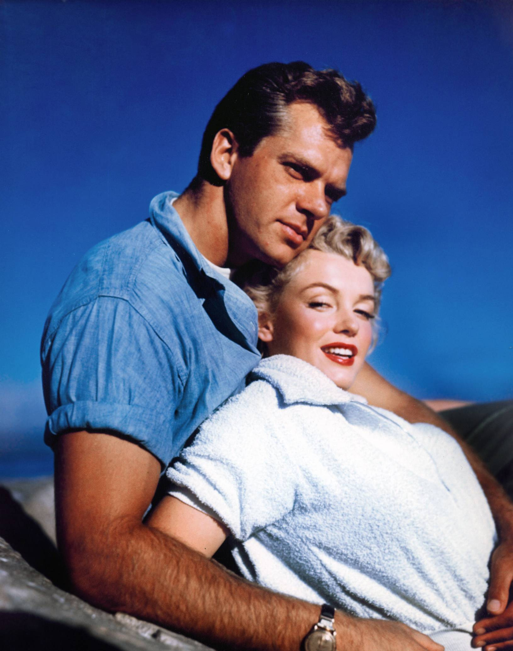 Marilyn Monroe With Keith Andes