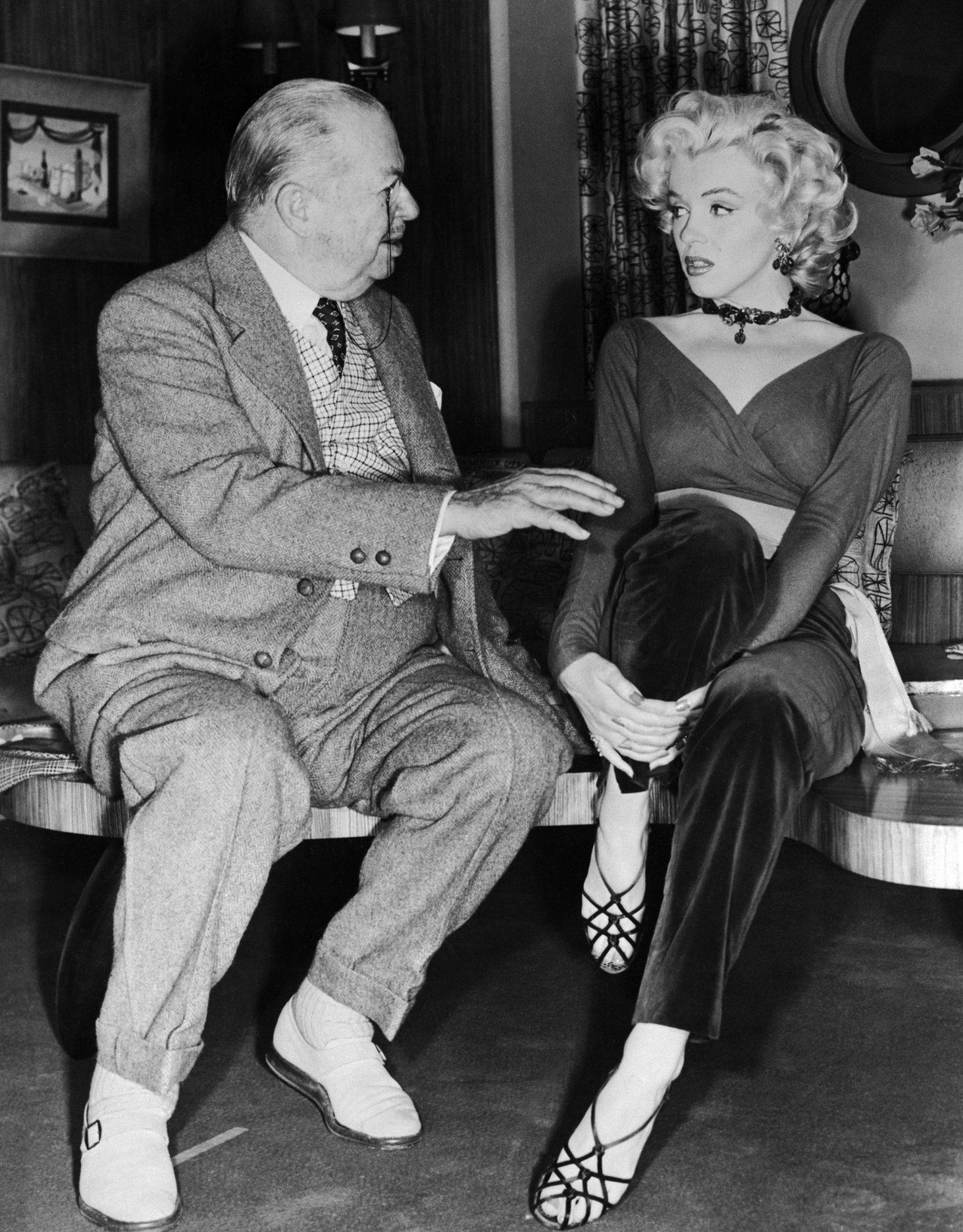 Marilyn Monroe With Charles Coburn