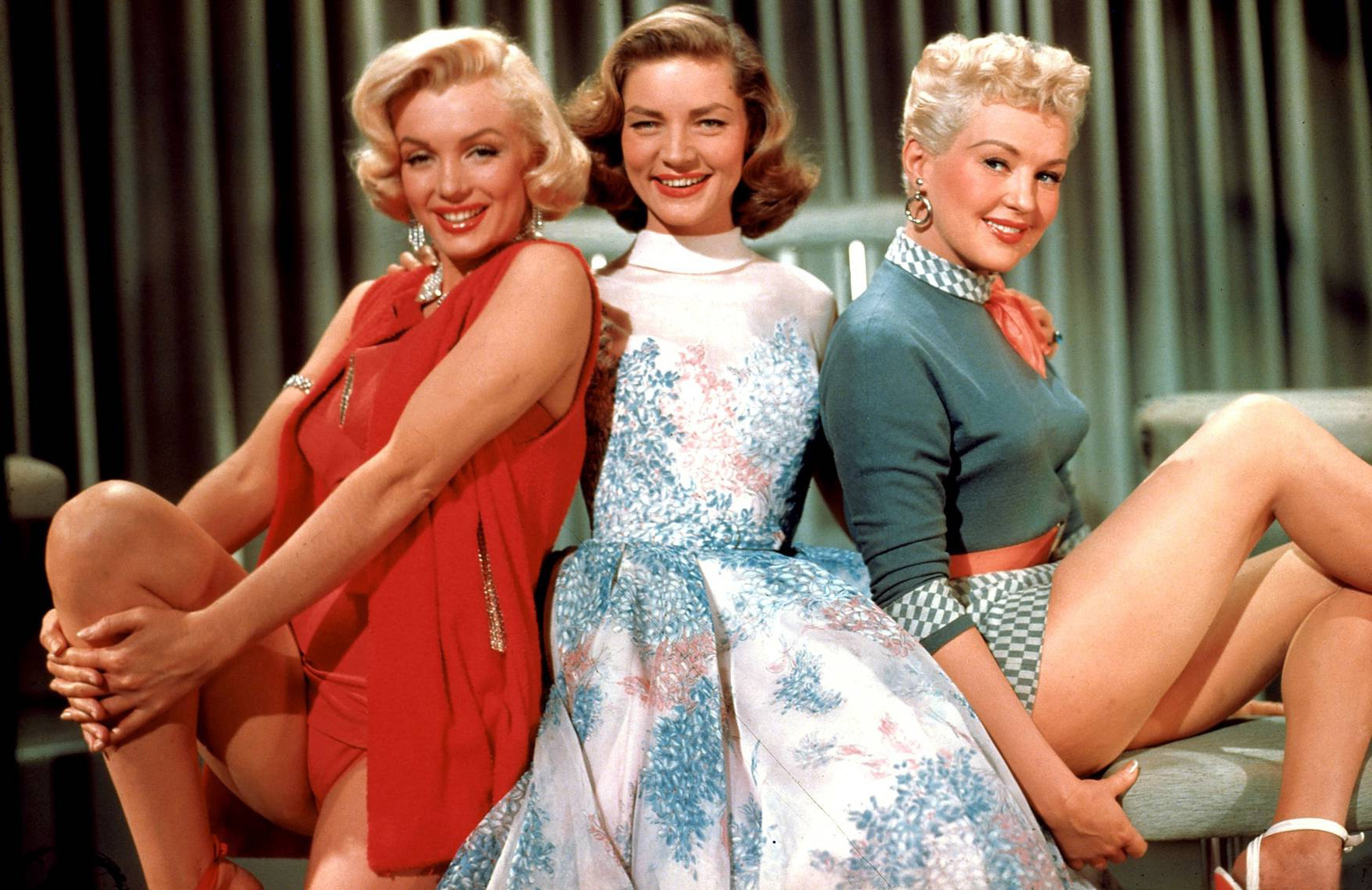 (L to R) Betty Grable, Lauren Bacall, Marilyn Monroe