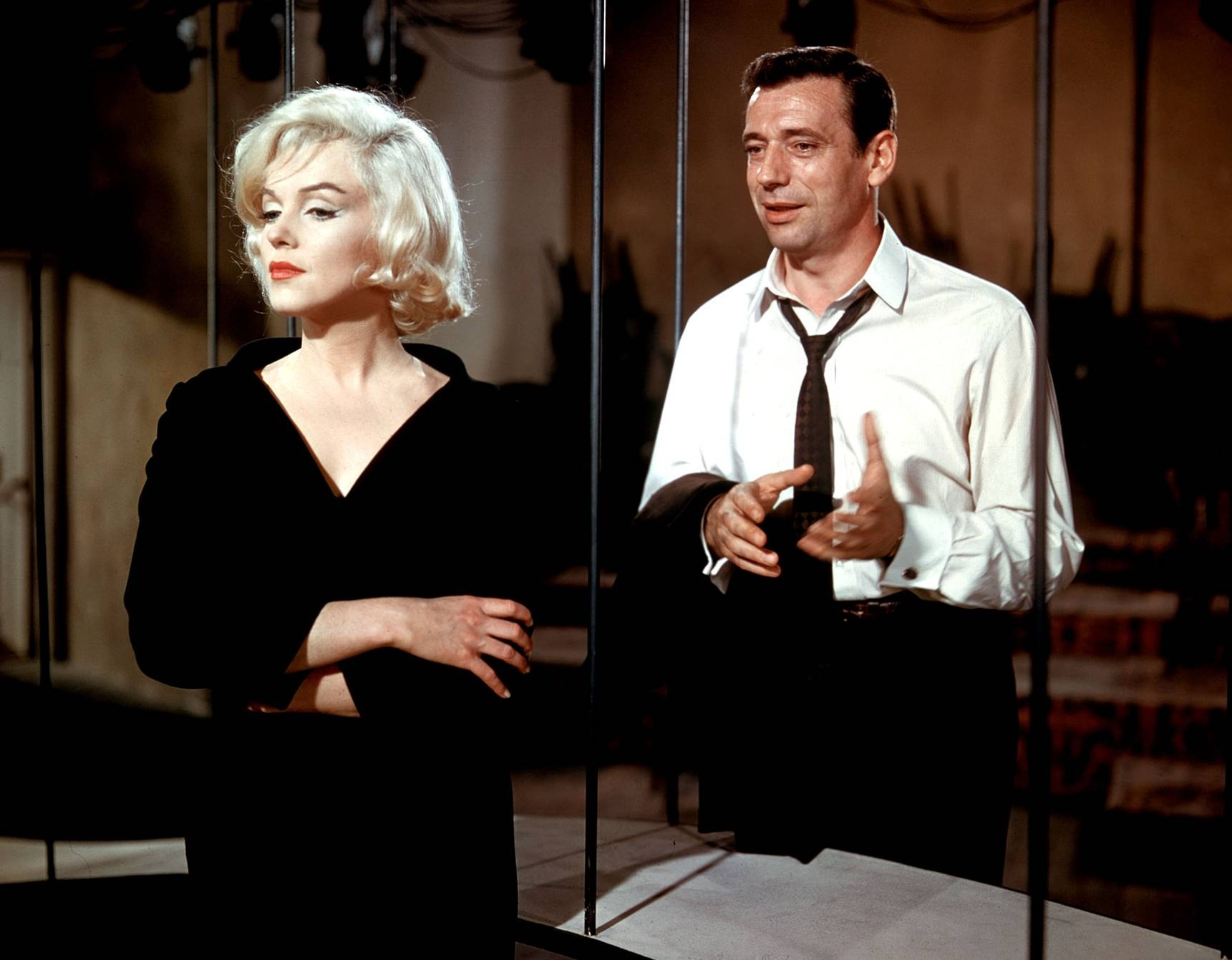 Marilyn Monroe With Yves Montand