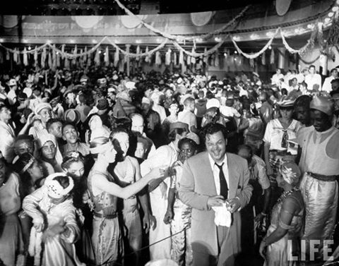 Via Atomic Samba, Orson Welles working (and partying) in Rio in 1942.