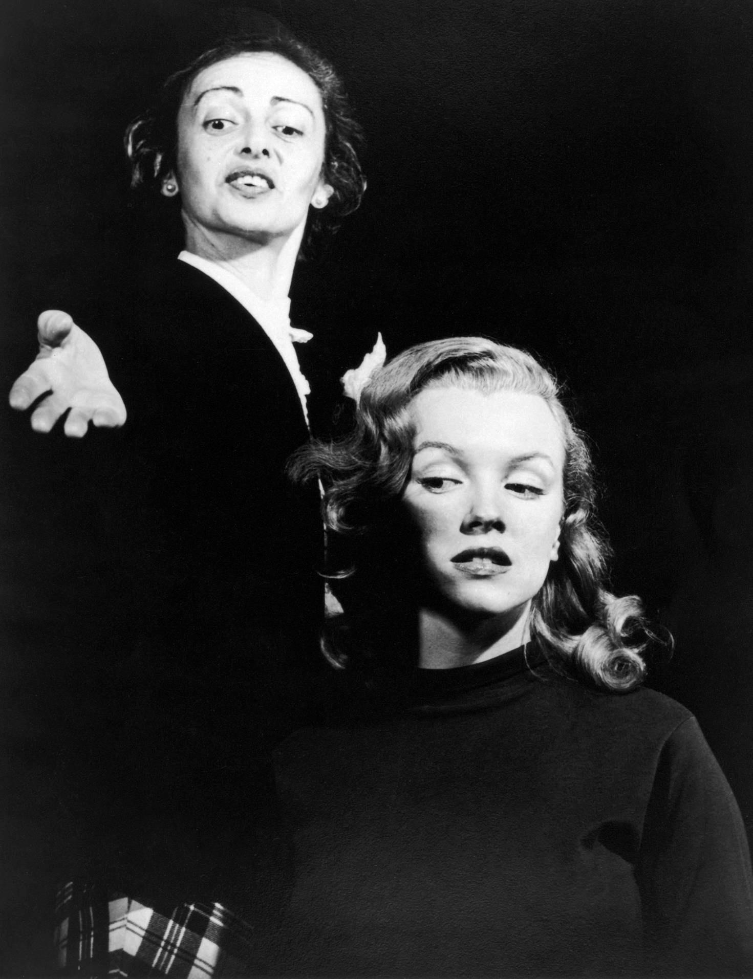 Marilyn Monroe With teacher Natasha Litesse (L)