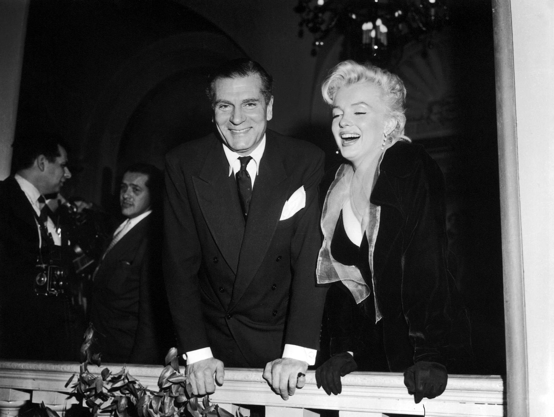 Marilyn Monroe With Laurence Olivier