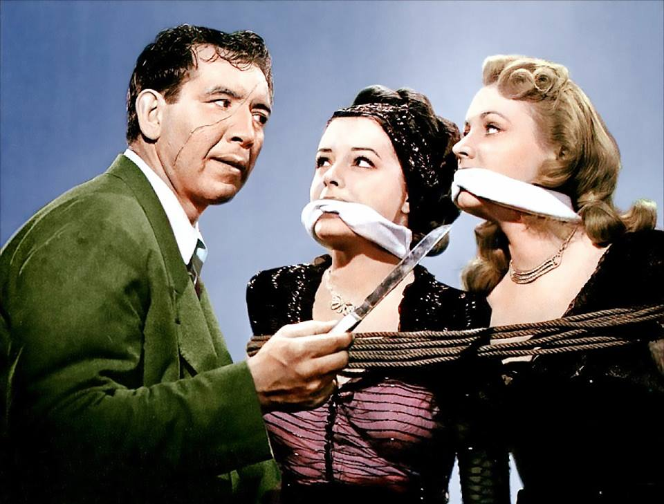 Mike Mazurki, Anne Jeffreys and Jane Greer