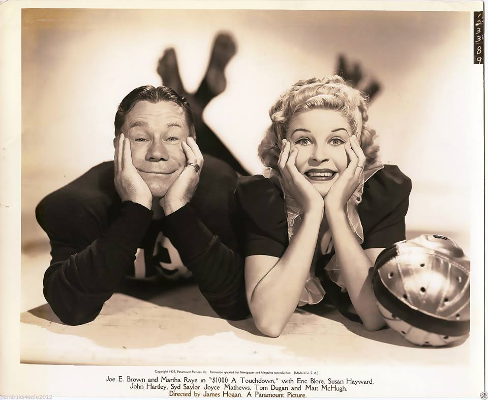 JOE E BROWN, MARTHA RAYE $1000 A TOUCHDOWN (1939)