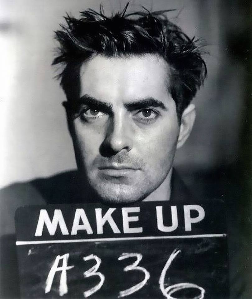 Tyrone Power makeup test for Nightmare Alley (1947) a great film from an amazing book.