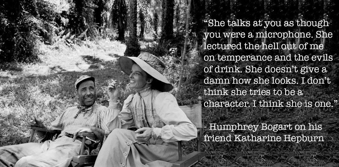 Katharine Hepburn and Humphery bogart