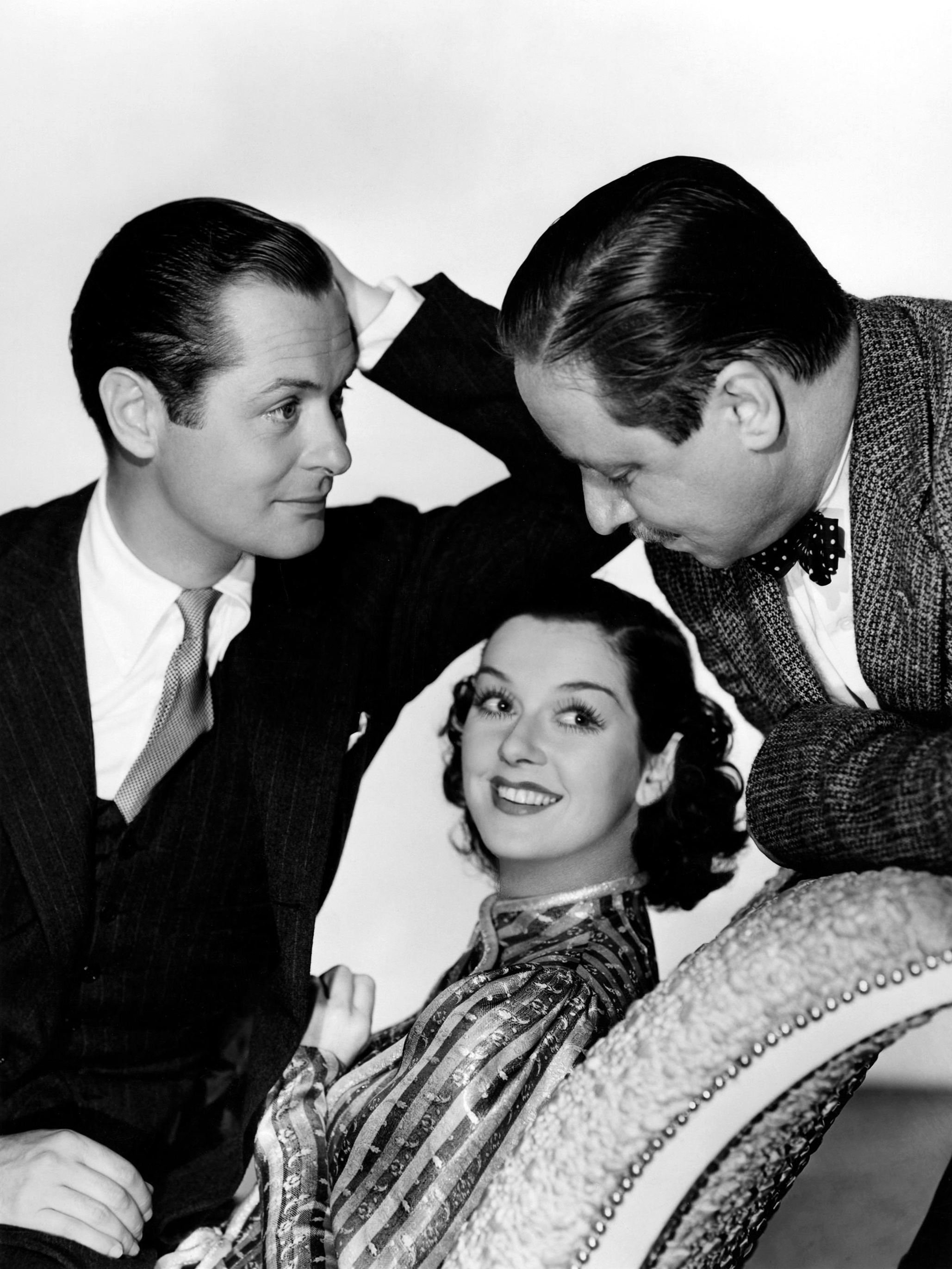 Rosalind Russell in Live, Love and Learn with (L to R) Robert Montgomery, Rosalind Russell, Robert Benchley