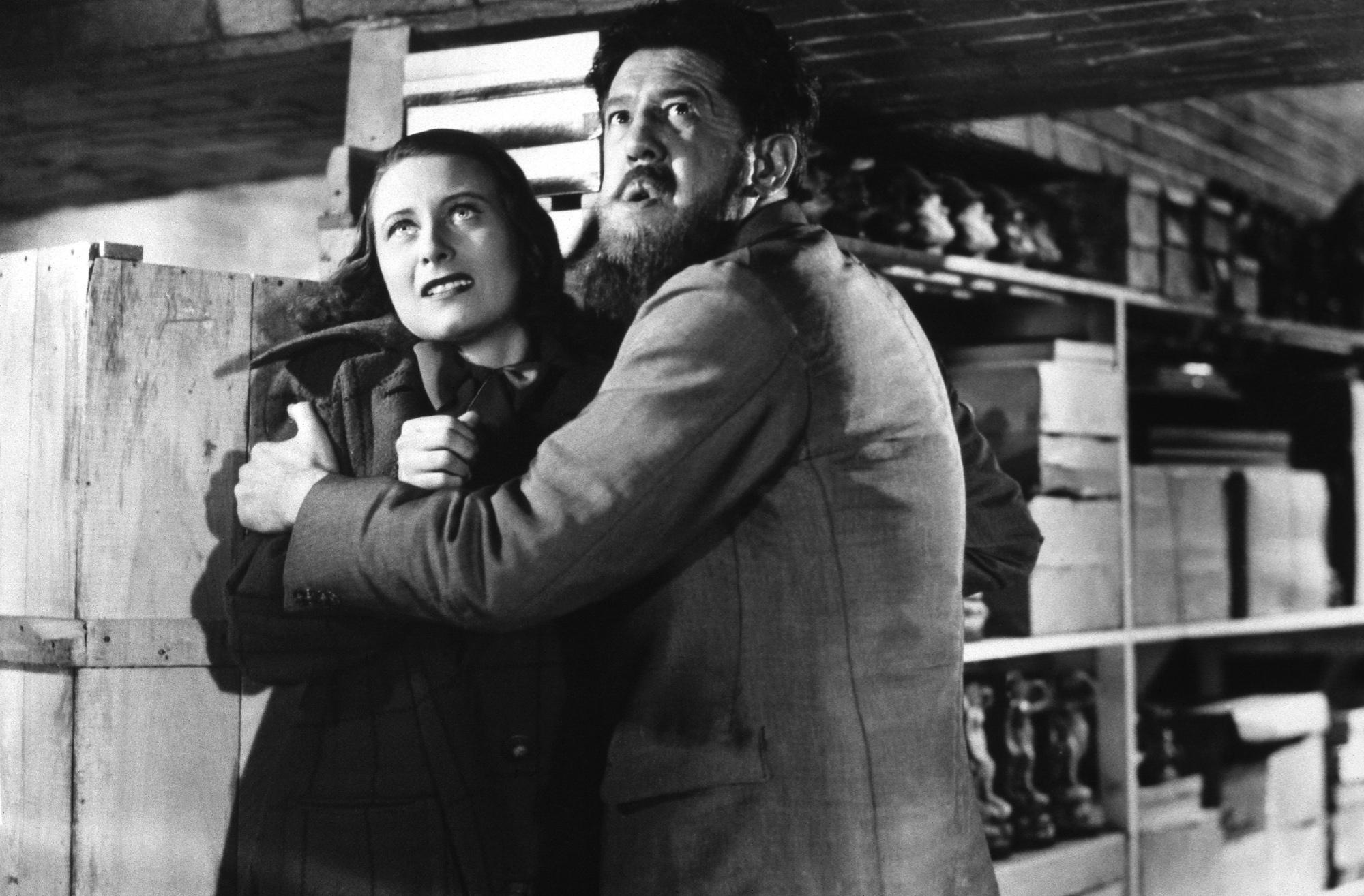 Michèle Morgan in Le Quai des brumes With Michel Simon