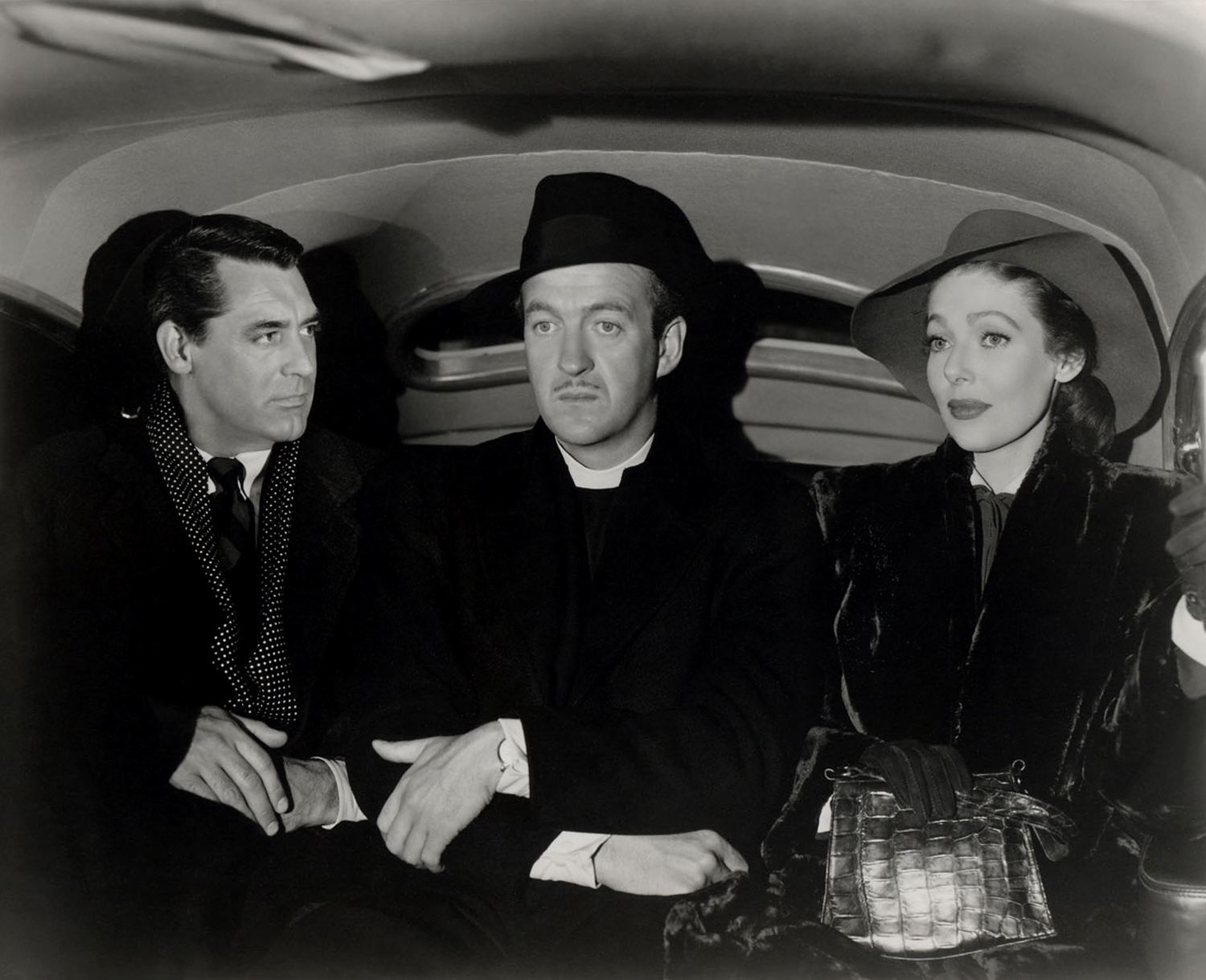 David Niven in The Bishop's Wife (L to R) Cary Grant, David Niven, Loretta Young
