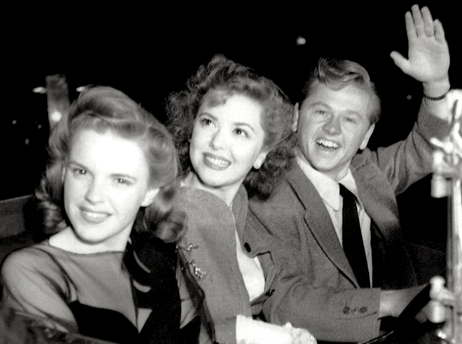 Judy Garland, Ann Rutherford and Mickey Rooney, circa 1941