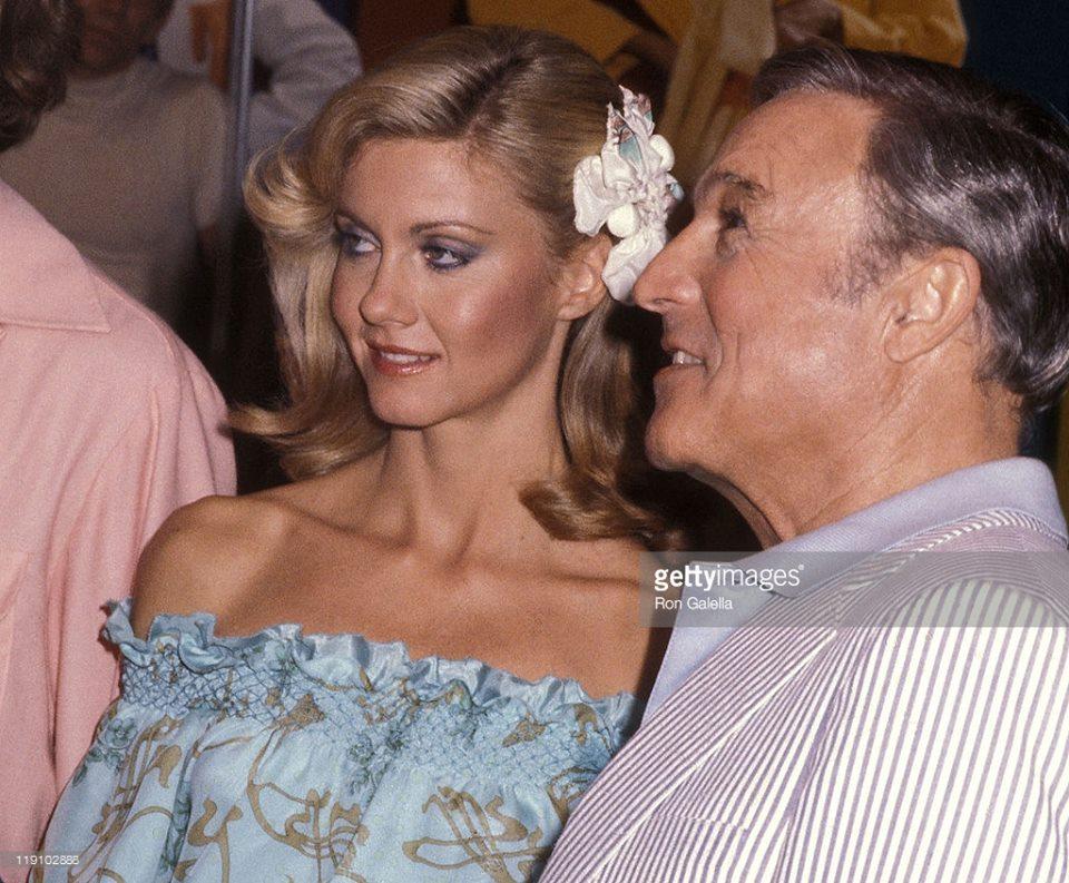 Olivia Newton-John and Gene Kelly,
