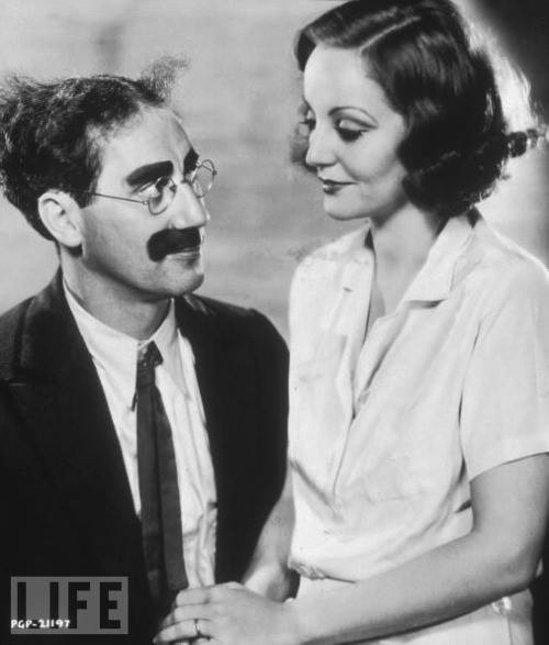 Groucho Marx and Tallulah Bankhead