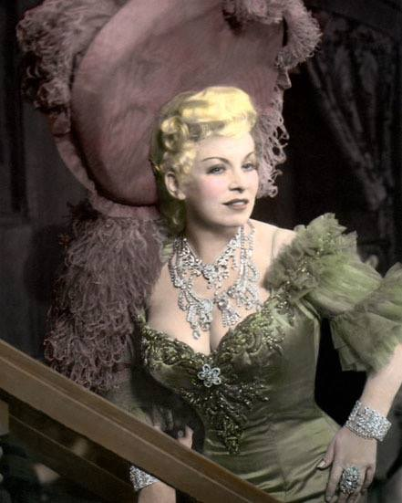 Mae West. This picture was taken close to the time of the airing of the infamous Adam and Eve sketch on the Chase and Sanborn Hour that got its writer, Arch Oboler, banned from NBC for a time.
