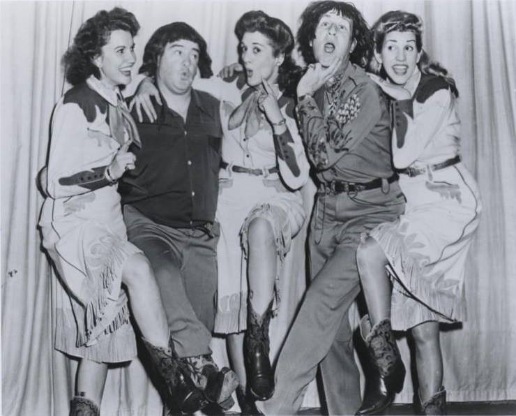 Bud Abbott and Lou Costello with The Andrews Sisters