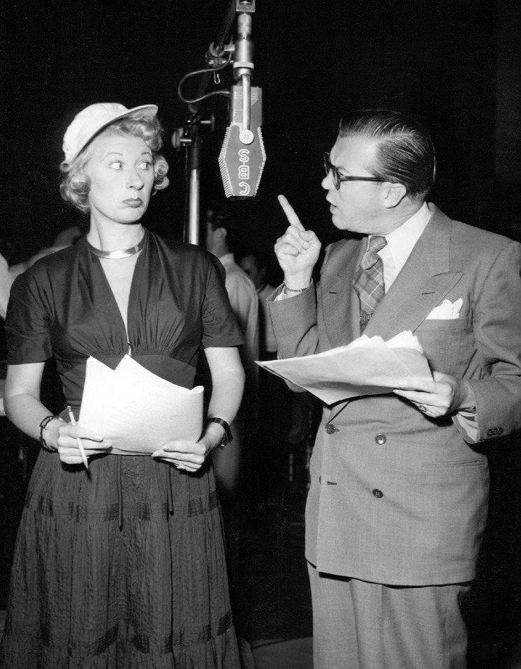 Joan Davis, with Joseph Kearns, in