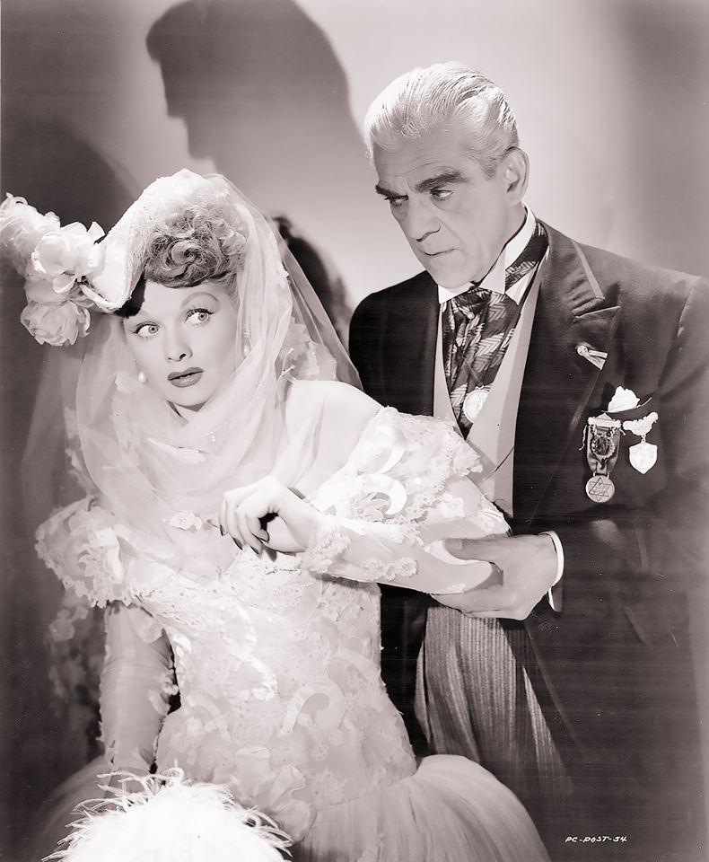 Lucille Ball Boris Karloff in Lured (1947)