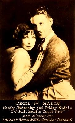 Johnny Patrick and Helen Troy were Cecil and Sally