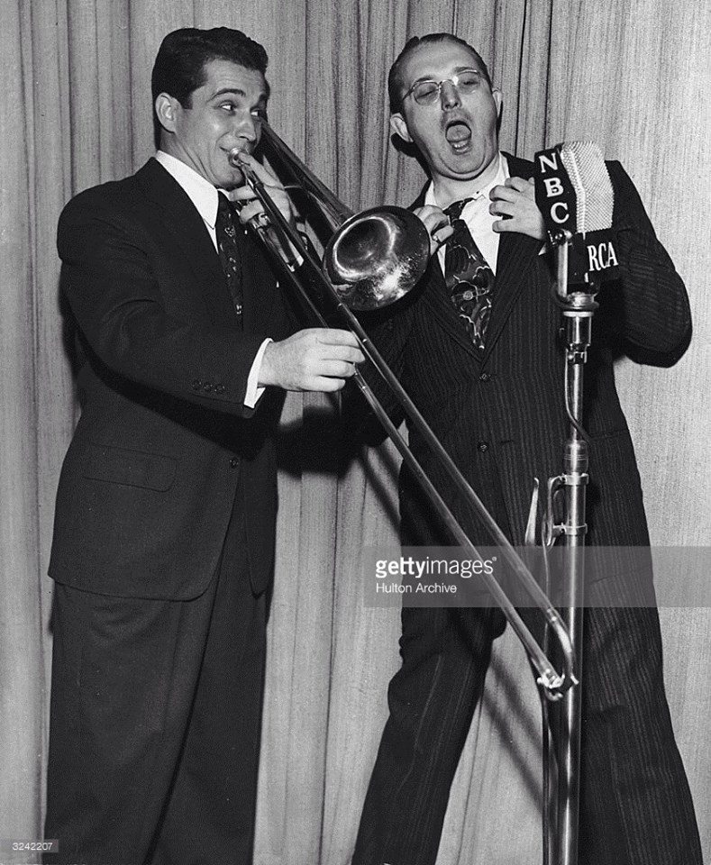 Tommy Dorsey sings while Perry Como plays the trombone!