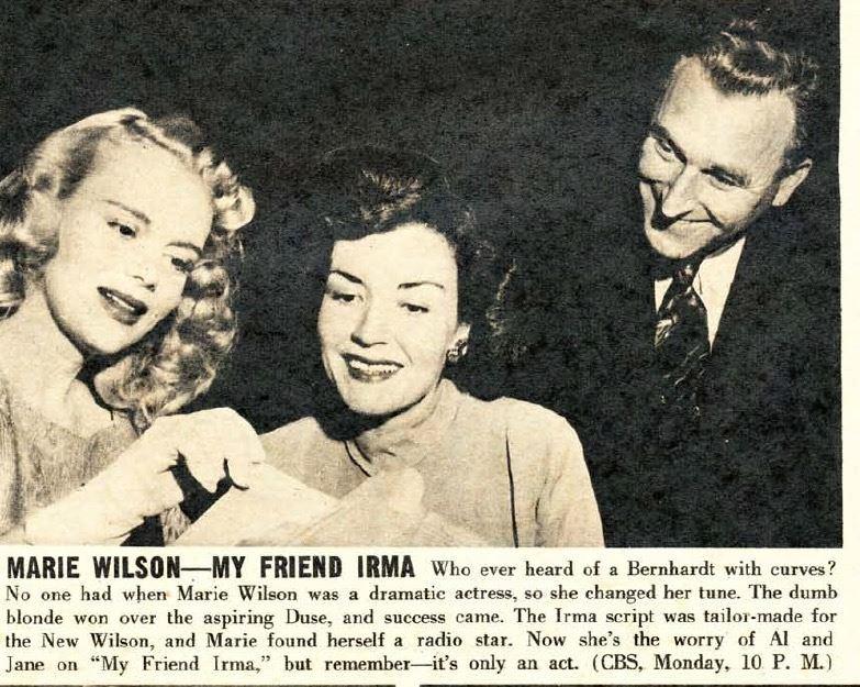 Marie Wilson, Cathy Lewis, and John Brown.
