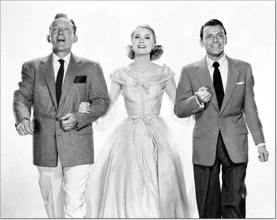 Grace Kelly, Bing Crosby and Frank Sinatra