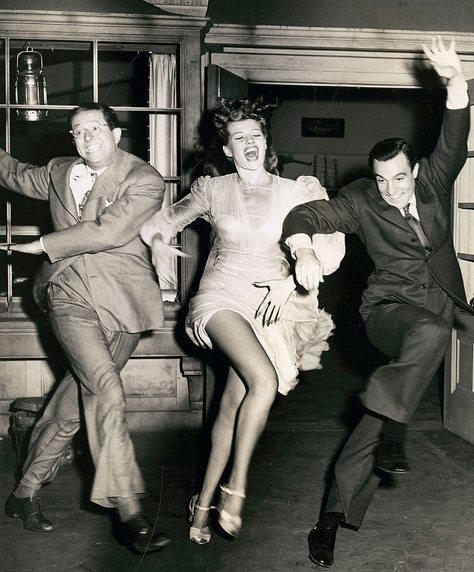 Phil Silvers, Rita Hayworth and Gene Kelly