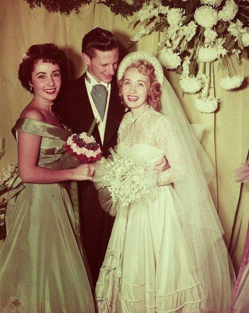 Photo of Jane Powell at her wedding.