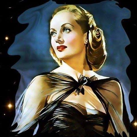 Lovely painting of Carole Lombard.
